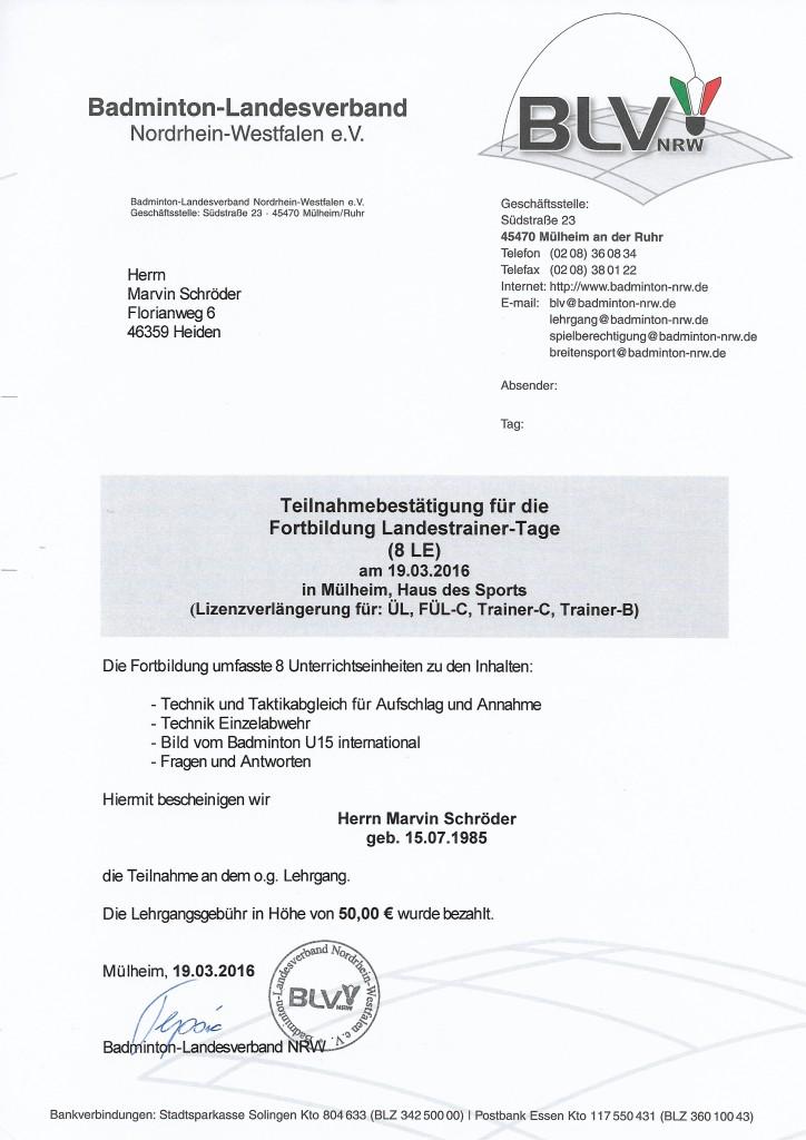 Landestrainertag 19.03.16